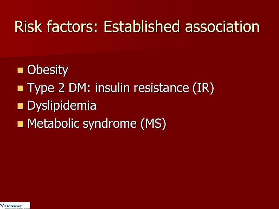 Risk factors: Established association
