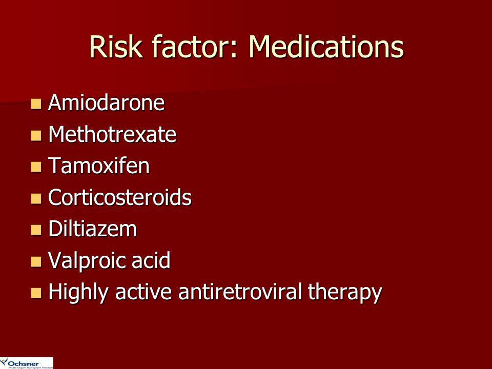 Risk factor: Medications