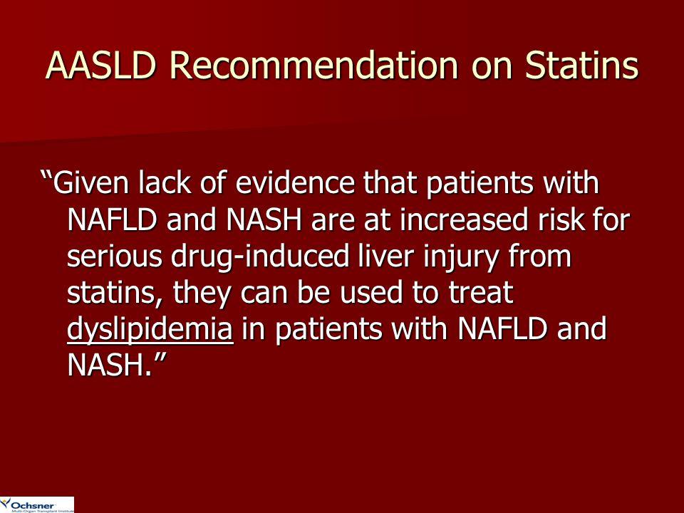 AASLD Recommendation on Statins