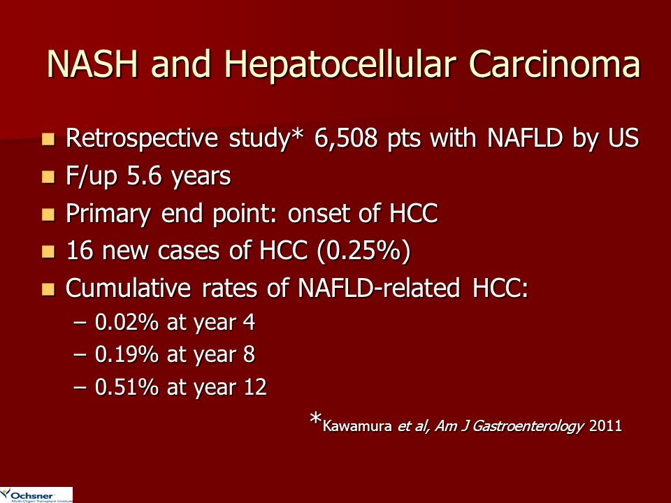 NASH and Hepatocellular Carcinoma