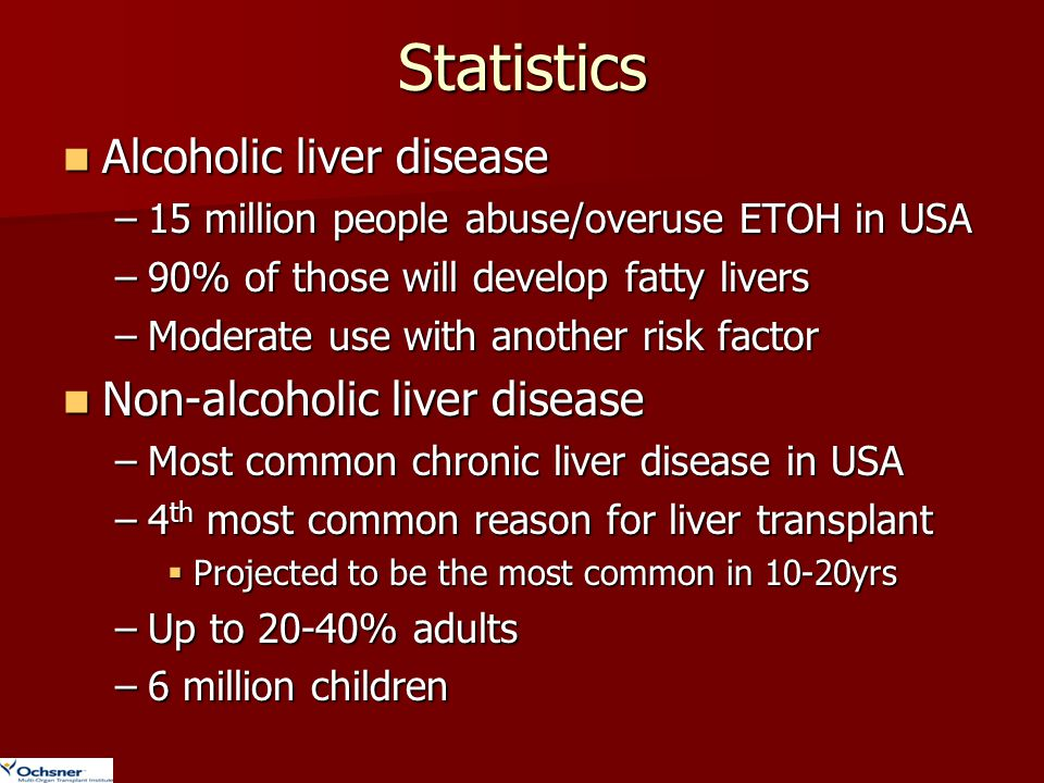 Statistics Alcoholic liver disease Non-alcoholic liver disease