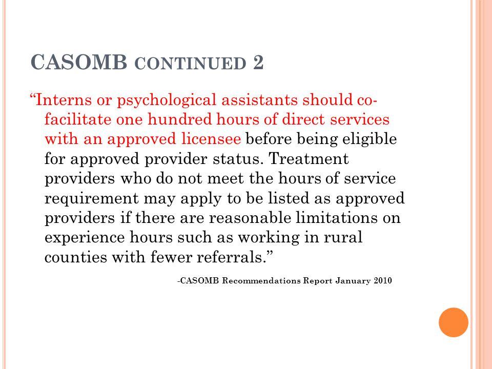 CASOMB continued 2