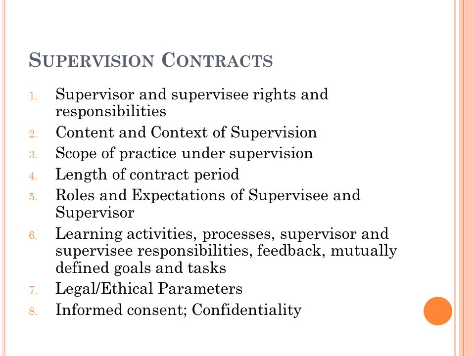 Supervision Contracts
