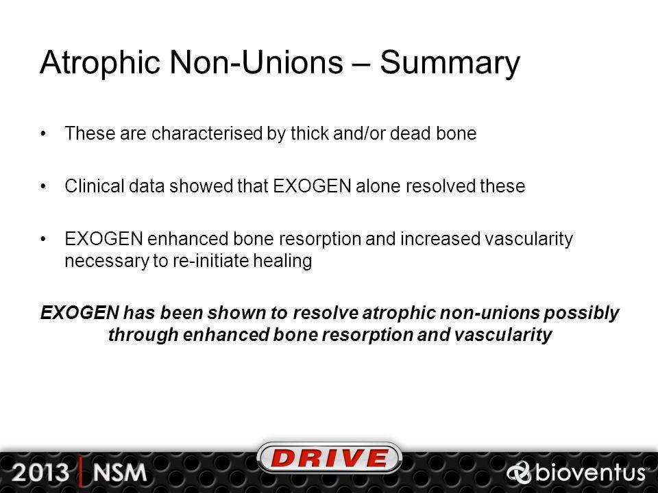 Atrophic Non-Unions – Summary