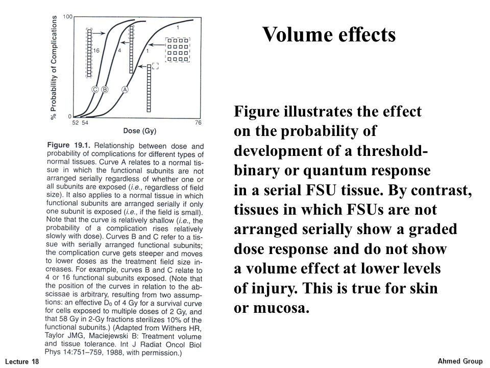 Volume effects Figure illustrates the effect on the probability of