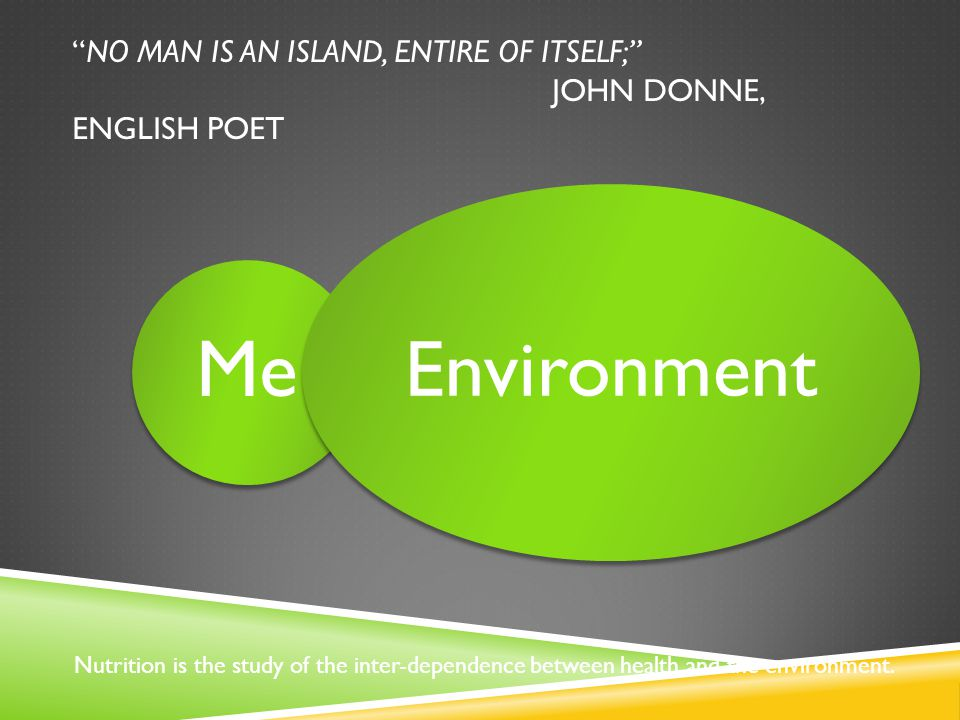 NO MAN IS AN ISLAND, ENTIRE OF ITSELF; JOHN DONNE, ENGLISH POET