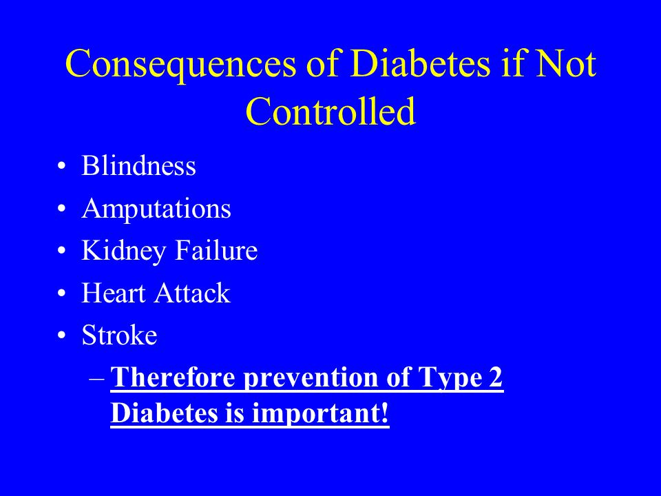 Consequences of Diabetes if Not Controlled