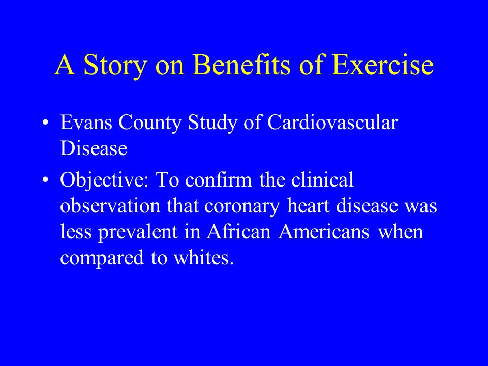 A Story on Benefits of Exercise