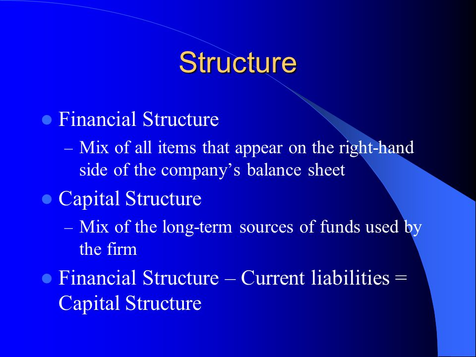 Structure Financial Structure Capital Structure