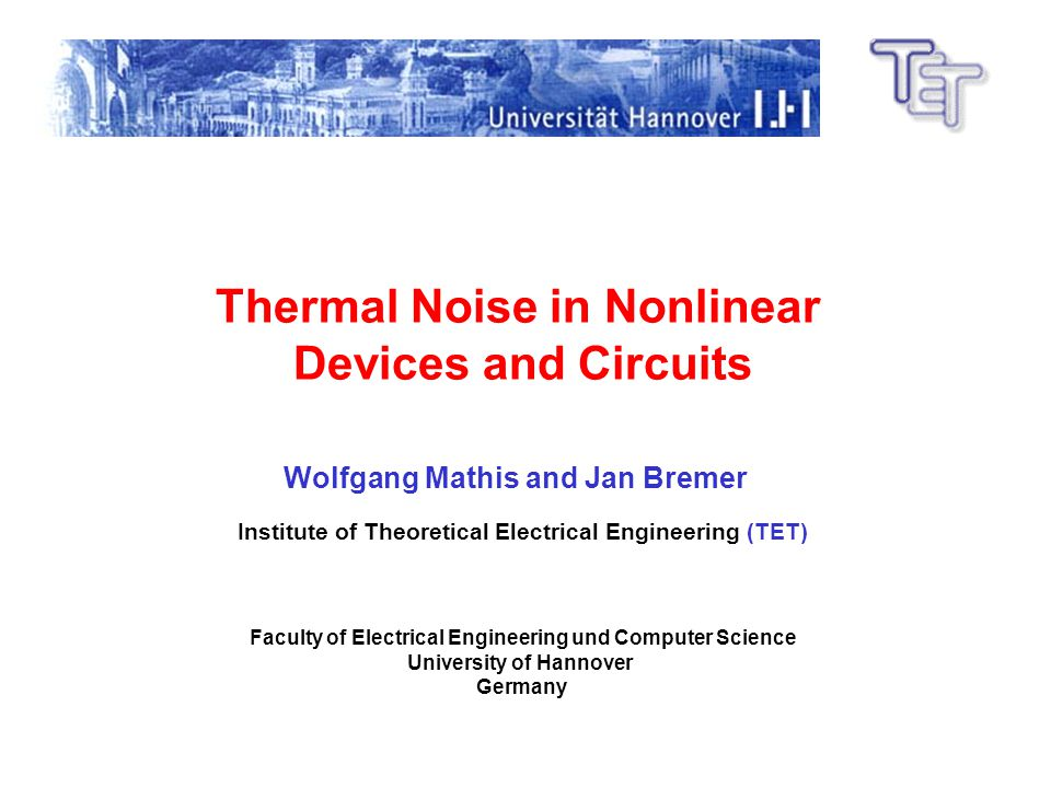 Thermal Noise in Nonlinear Devices and Circuits