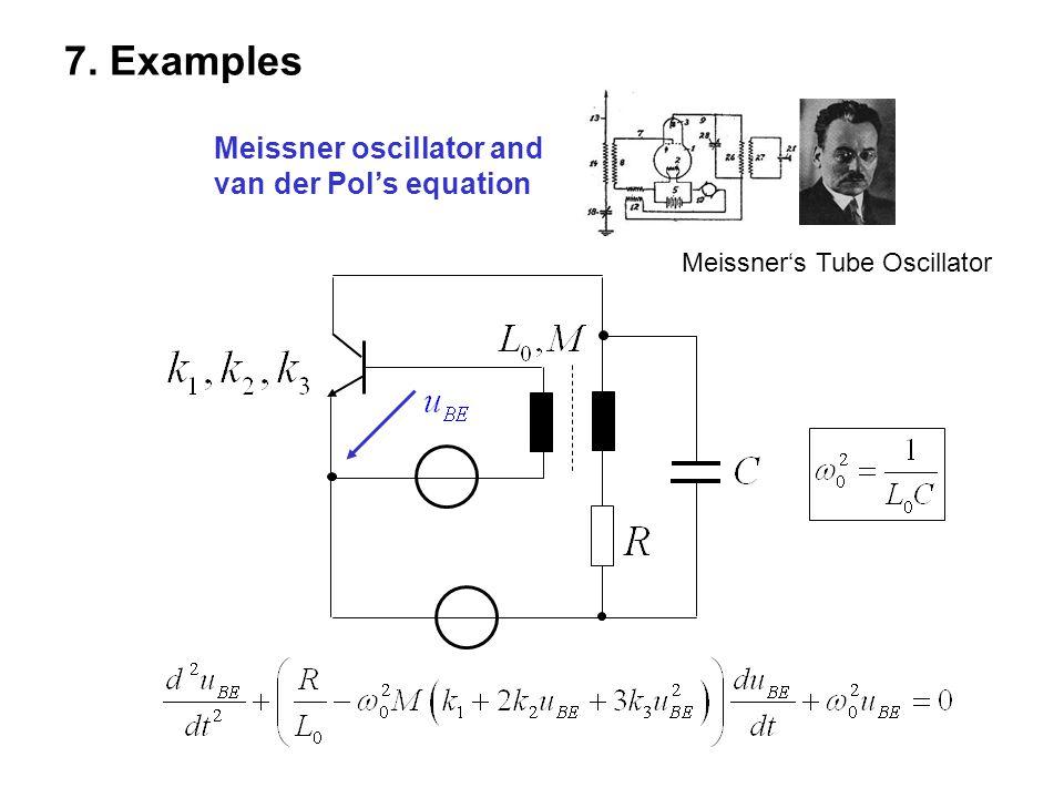 7. Examples Meissner oscillator and van der Pol's equation