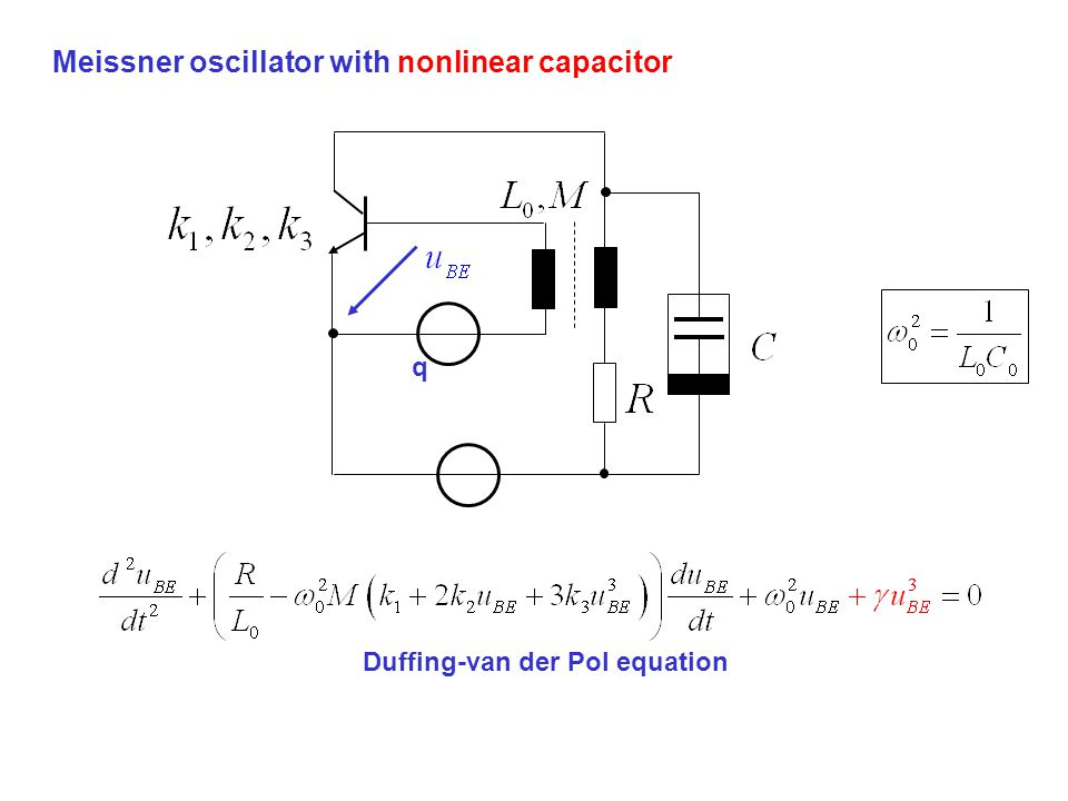 Meissner oscillator with nonlinear capacitor