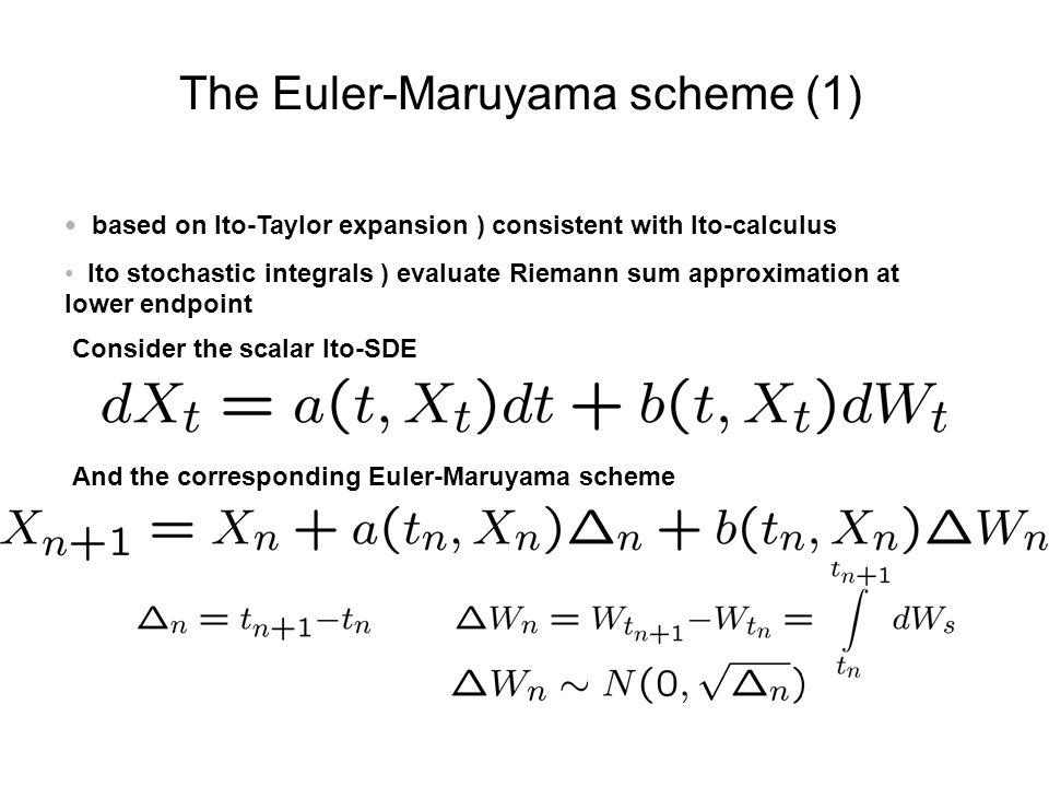 The Euler-Maruyama scheme (1)