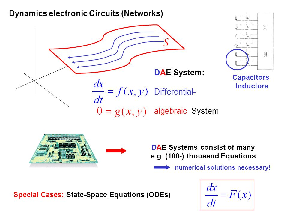 DAE Systems consist of many e.g. (100-) thousand Equations