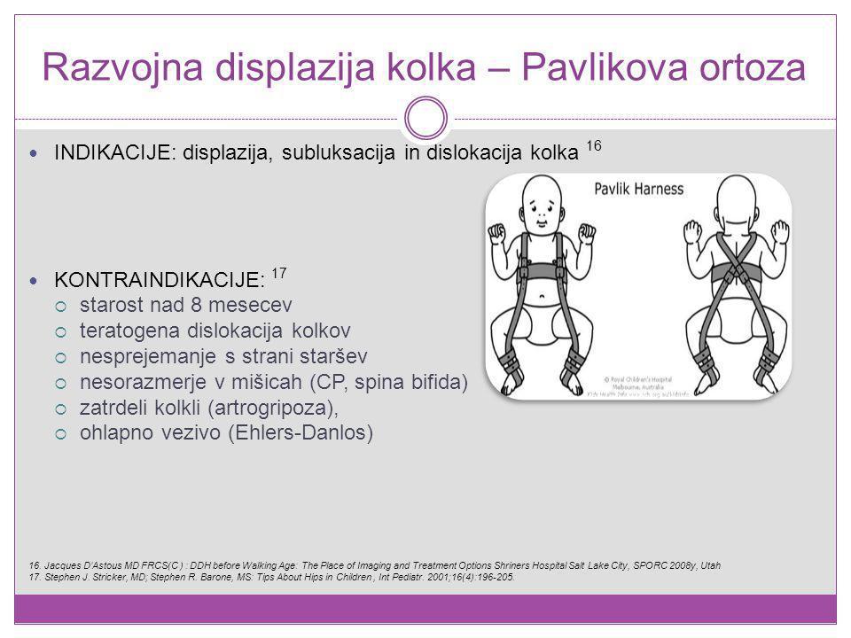 Razvojna displazija kolka – Pavlikova ortoza