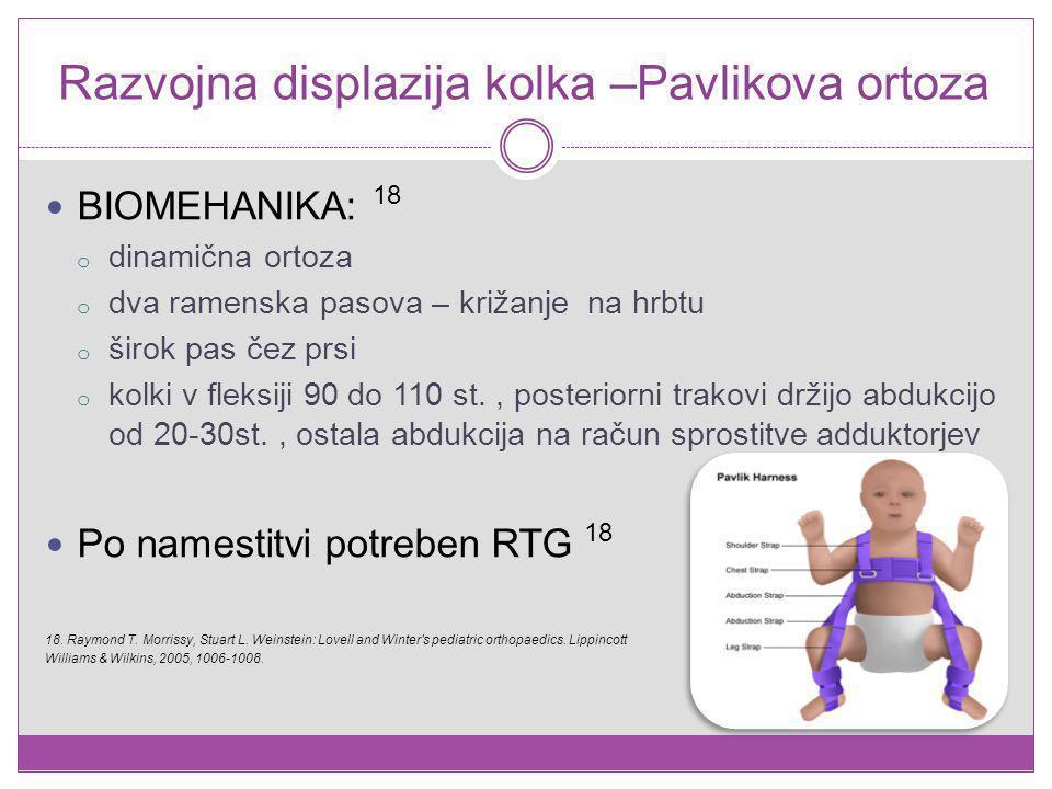 Razvojna displazija kolka –Pavlikova ortoza