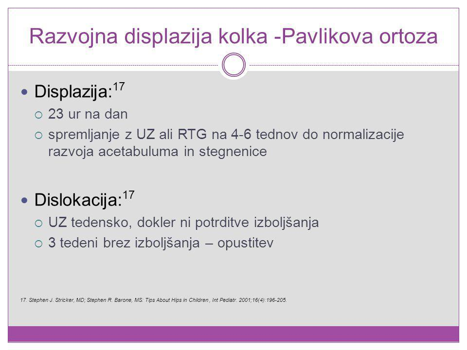 Razvojna displazija kolka -Pavlikova ortoza