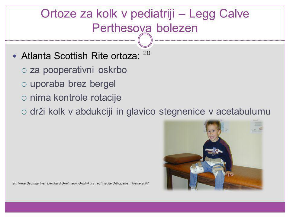 Ortoze za kolk v pediatriji – Legg Calve Perthesova bolezen