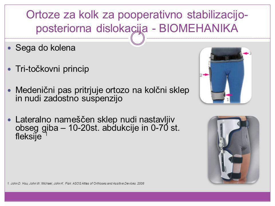Ortoze za kolk za pooperativno stabilizacijo- posteriorna dislokacija - BIOMEHANIKA