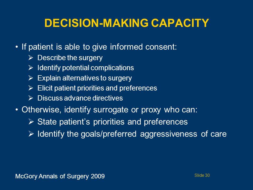 Decision-Making Capacity