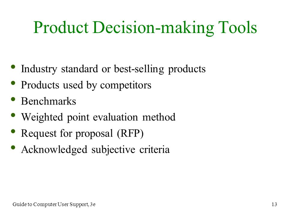 Product Decision-making Tools