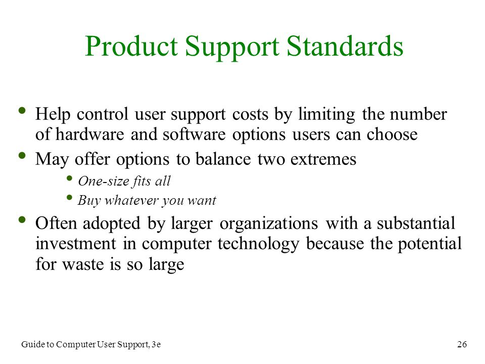 Product Support Standards