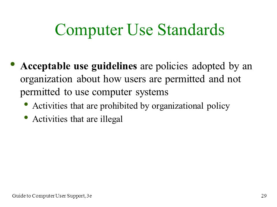 Computer Use Standards