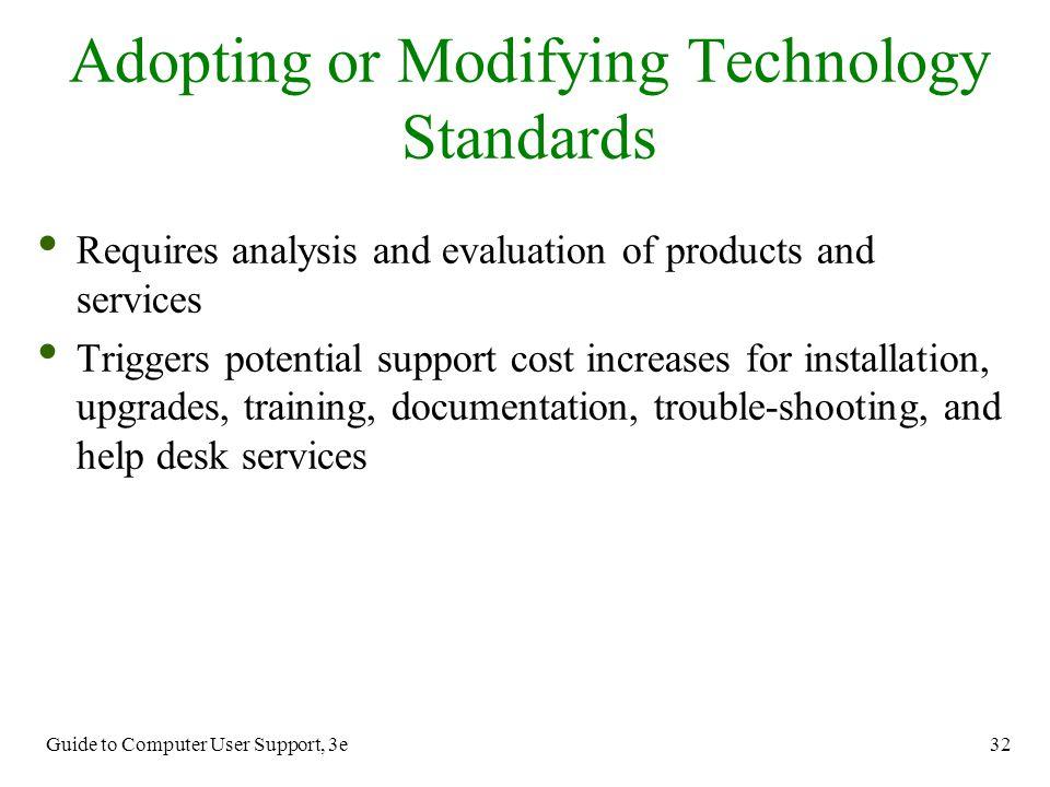 Adopting or Modifying Technology Standards
