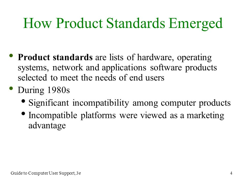 How Product Standards Emerged