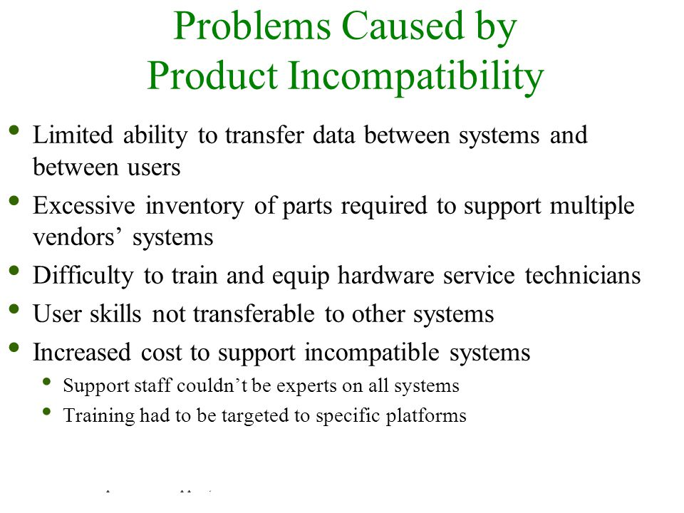Problems Caused by Product Incompatibility