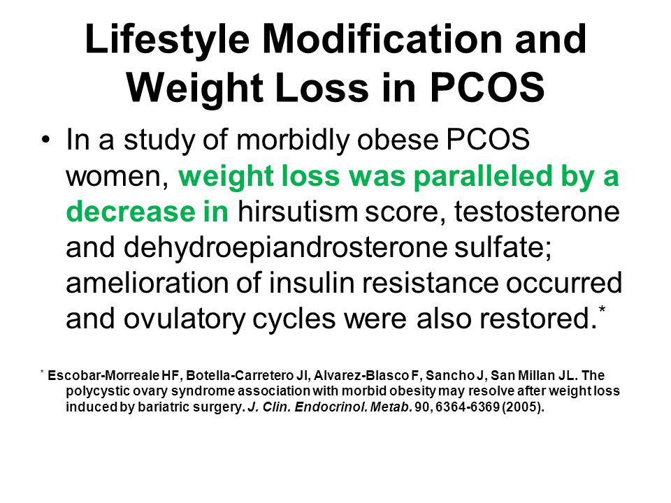 Lifestyle Modification and Weight Loss in PCOS