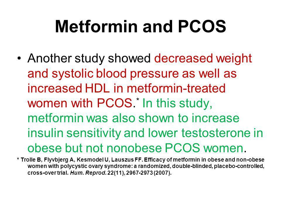 Metformin and PCOS