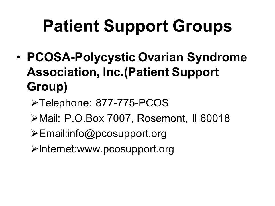 Patient Support Groups