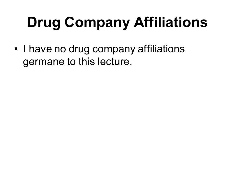 Drug Company Affiliations