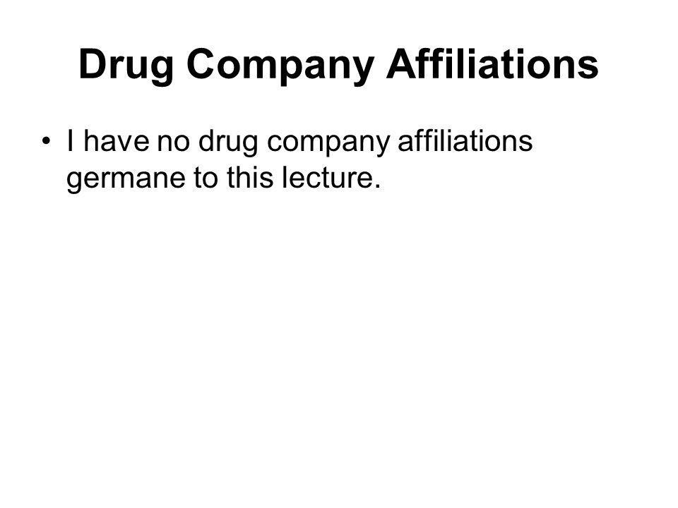 Drug Company Affiliations