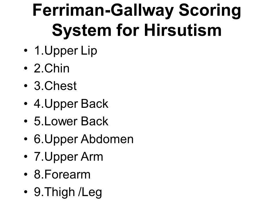 Ferriman-Gallway Scoring System for Hirsutism