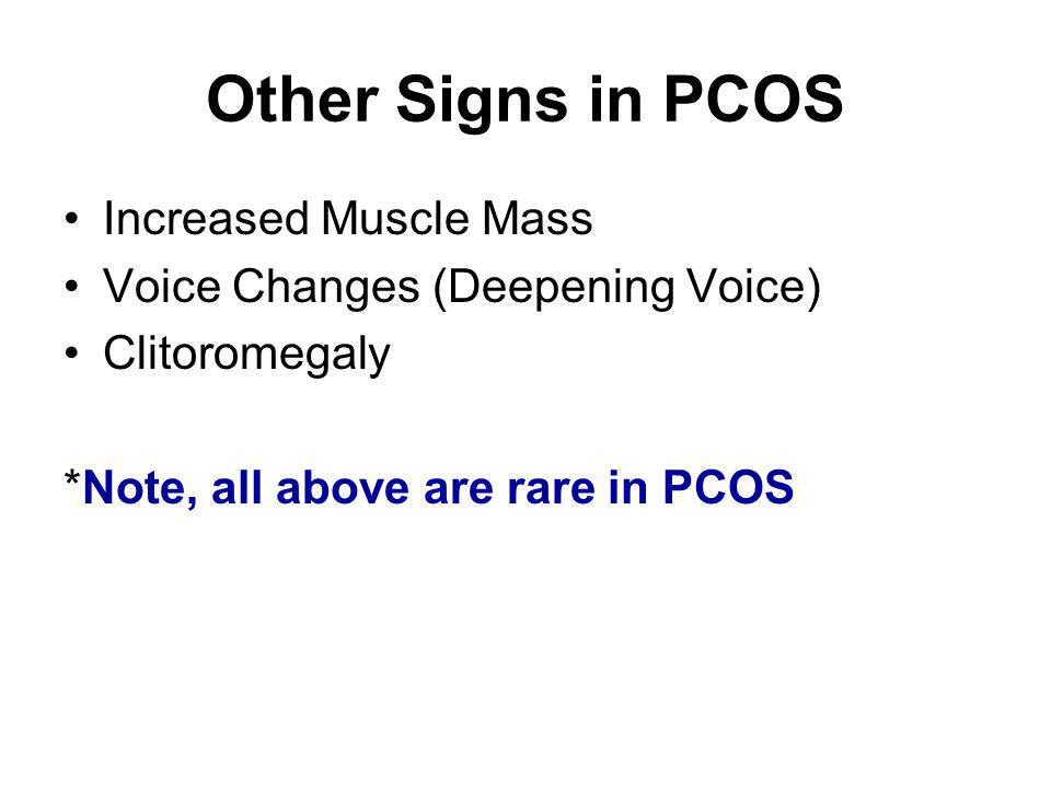Other Signs in PCOS Increased Muscle Mass