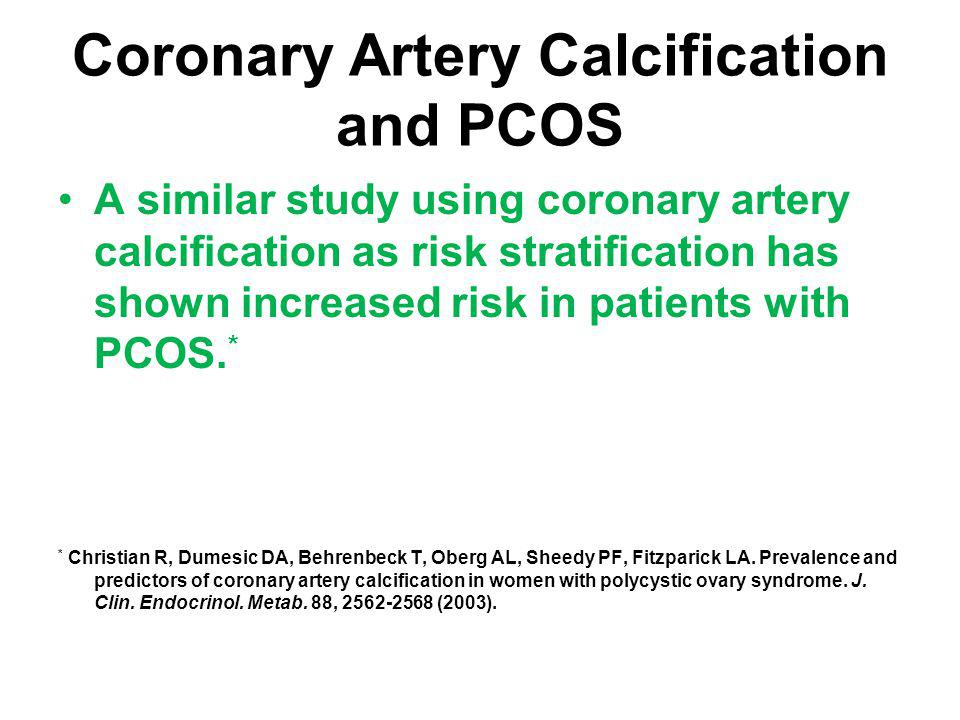 Coronary Artery Calcification and PCOS