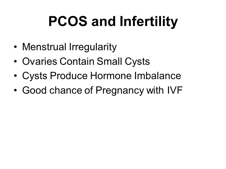 PCOS and Infertility Menstrual Irregularity
