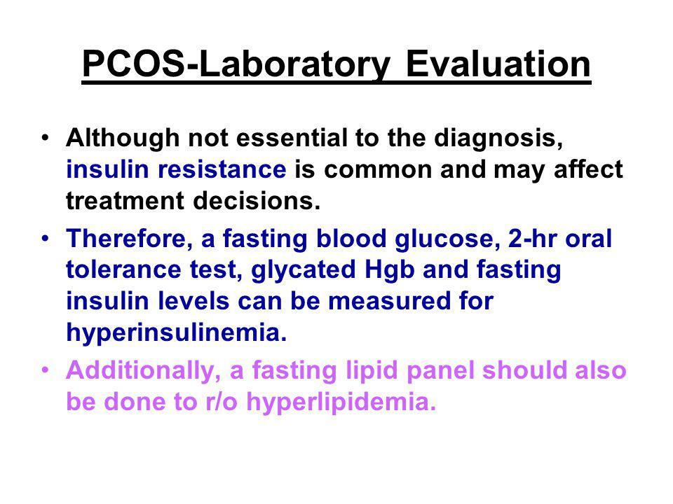 PCOS-Laboratory Evaluation