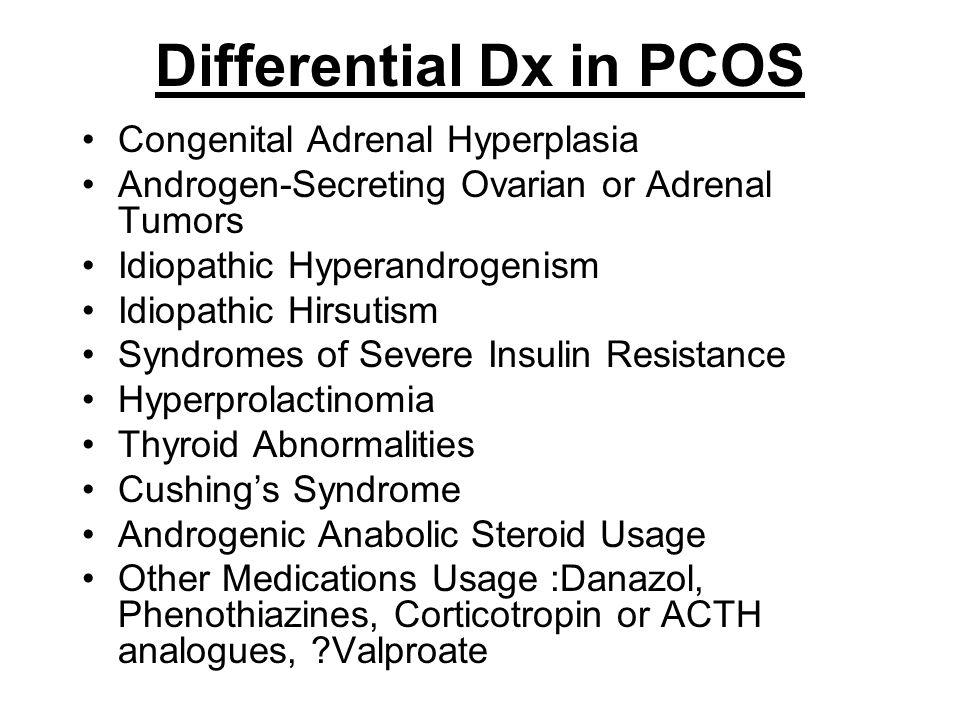 Differential Dx in PCOS