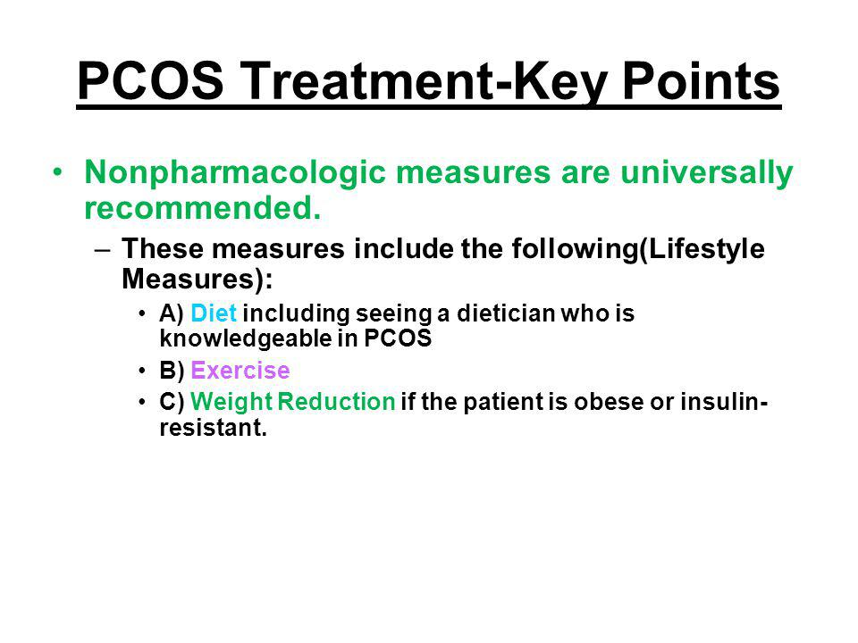 PCOS Treatment-Key Points
