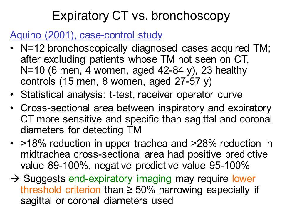 Expiratory CT vs. bronchoscopy
