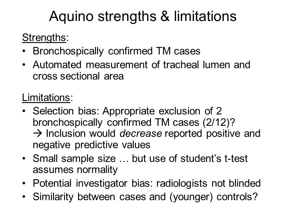 Aquino strengths & limitations