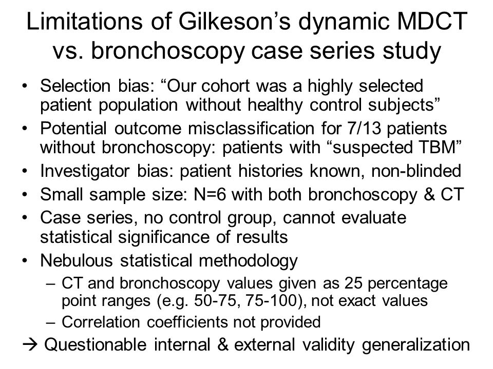 Limitations of Gilkeson's dynamic MDCT vs