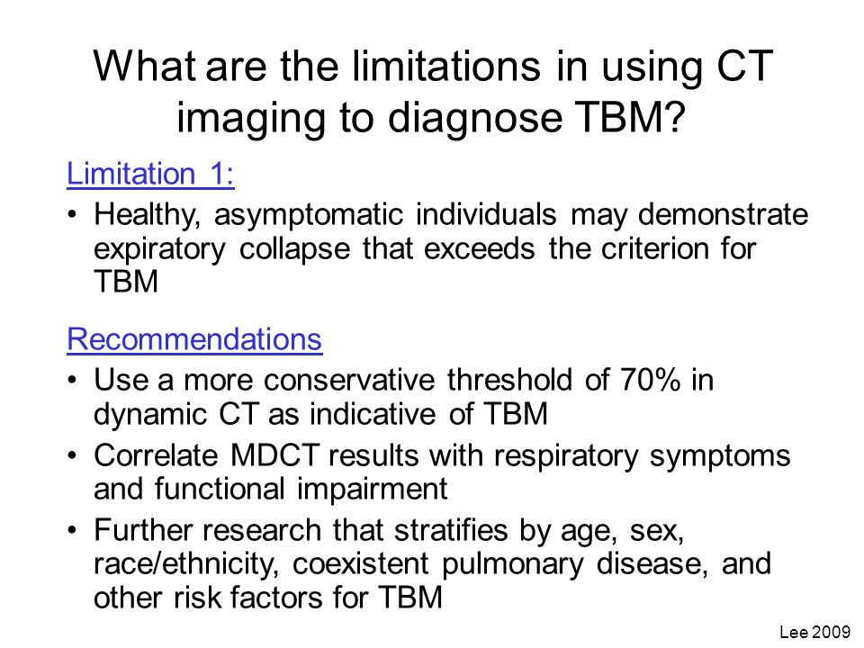 What are the limitations in using CT imaging to diagnose TBM