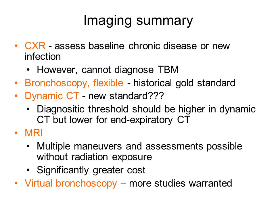 Imaging summary CXR - assess baseline chronic disease or new infection