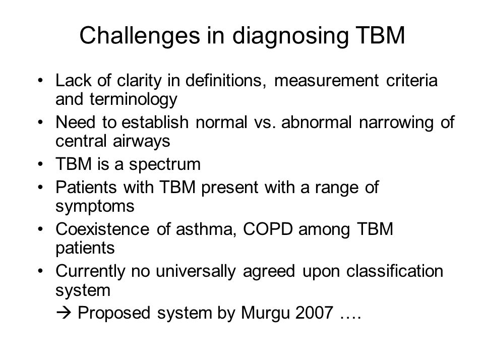 Challenges in diagnosing TBM