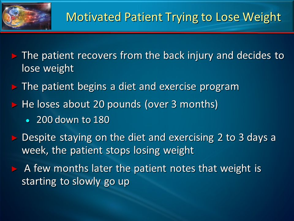 Motivated Patient Trying to Lose Weight