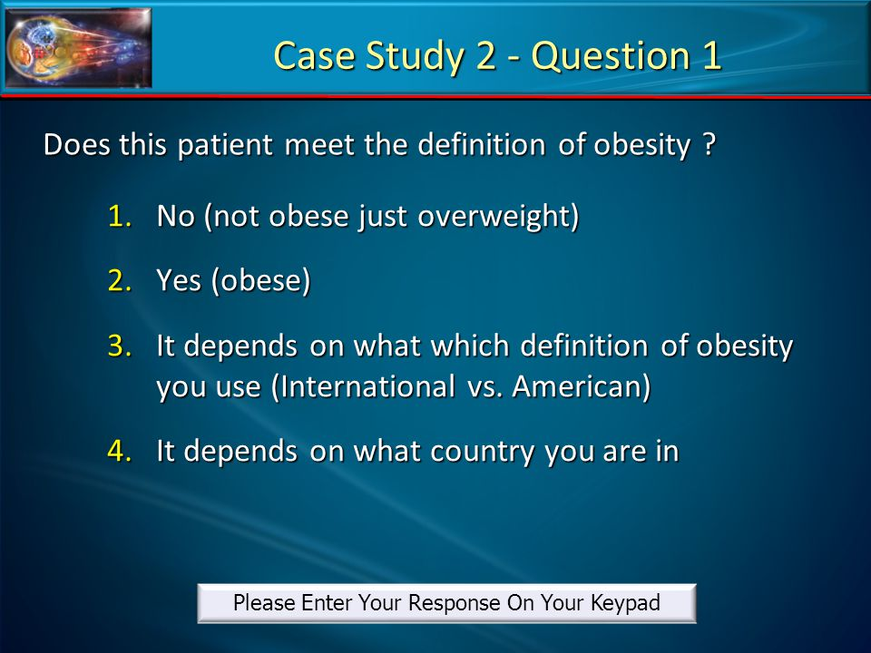 Does this patient meet the definition of obesity